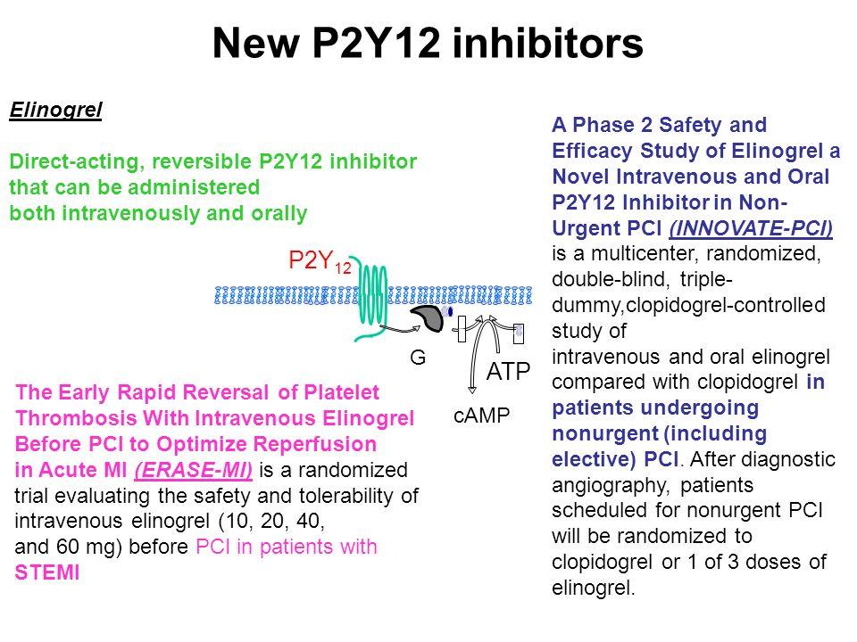 New P2Y12 inhibitors P2Y12 ATP Elinogrel