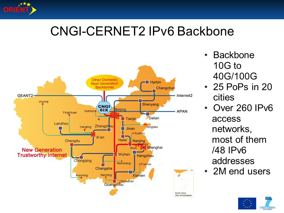 CNGI-CERNET2 IPv6 Backbone