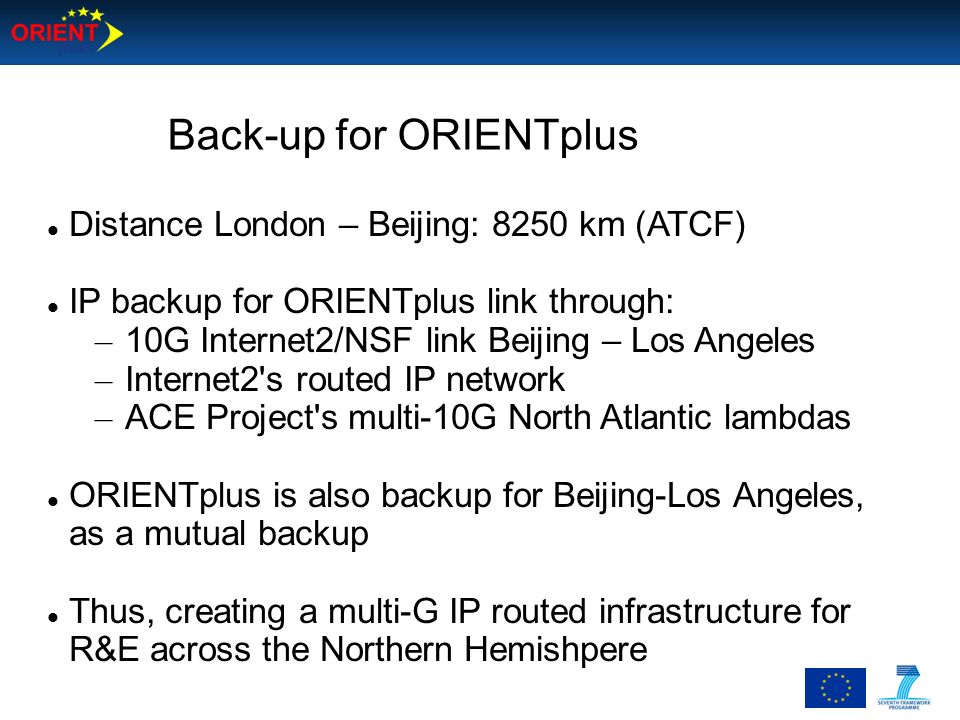 Back-up for ORIENTplus