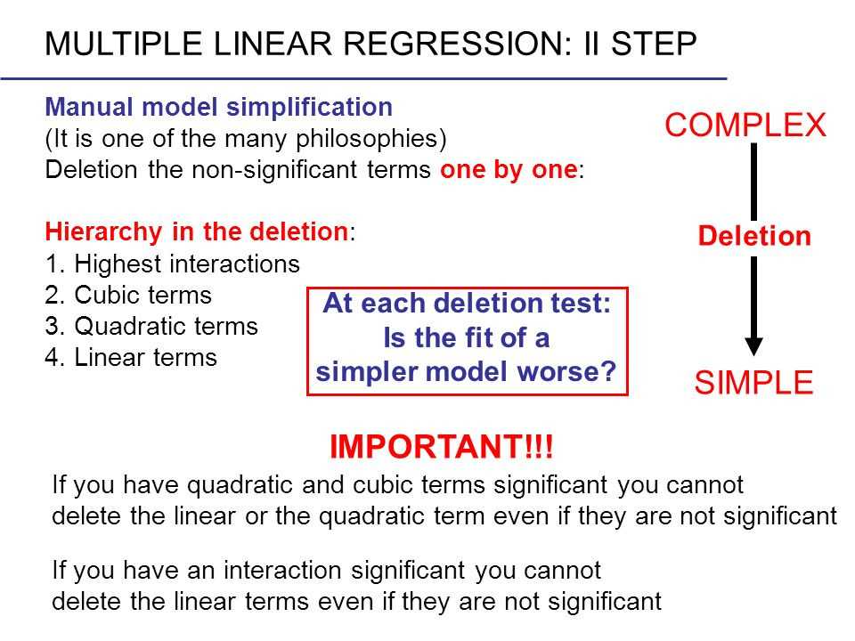 MULTIPLE LINEAR REGRESSION: II STEP