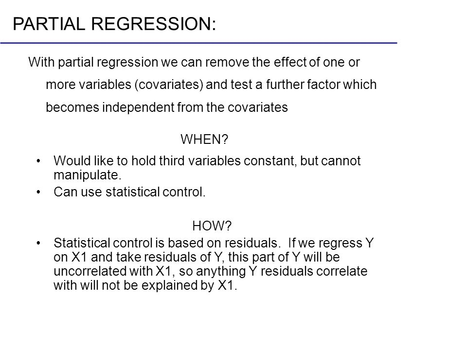 PARTIAL REGRESSION: