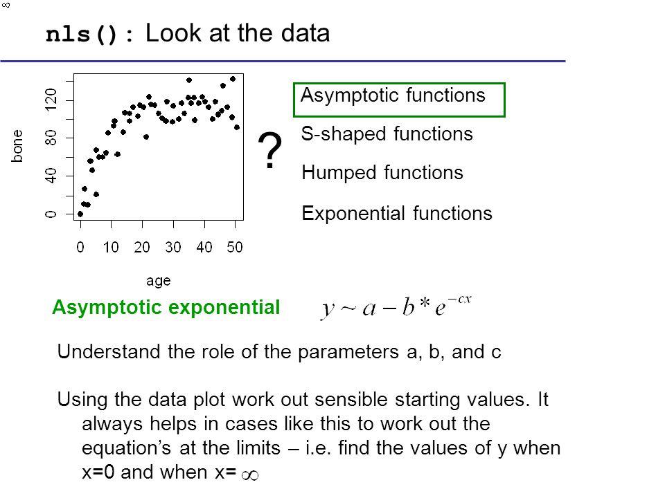 Asymptotic exponential