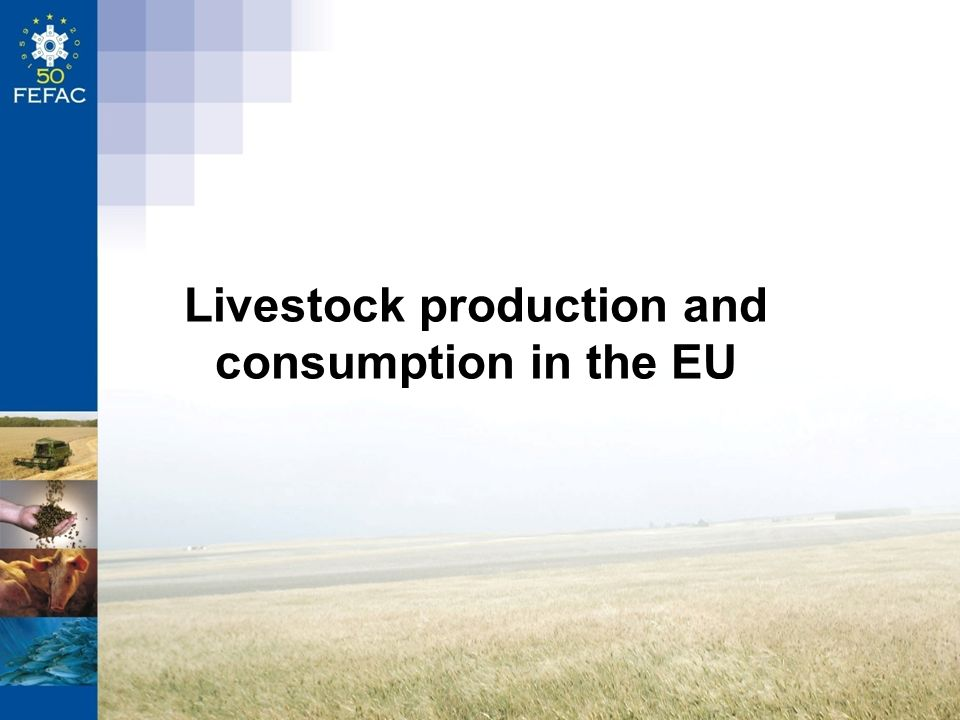 Livestock production and consumption in the EU