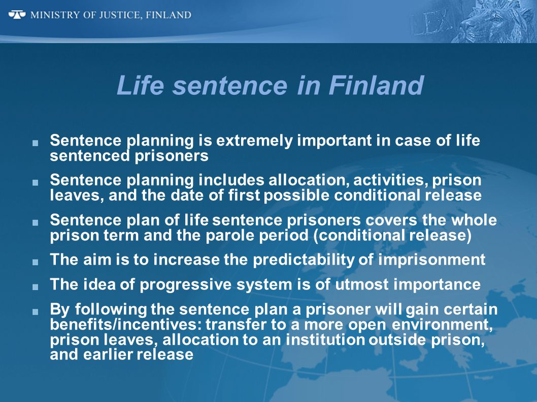 Life sentence in Finland