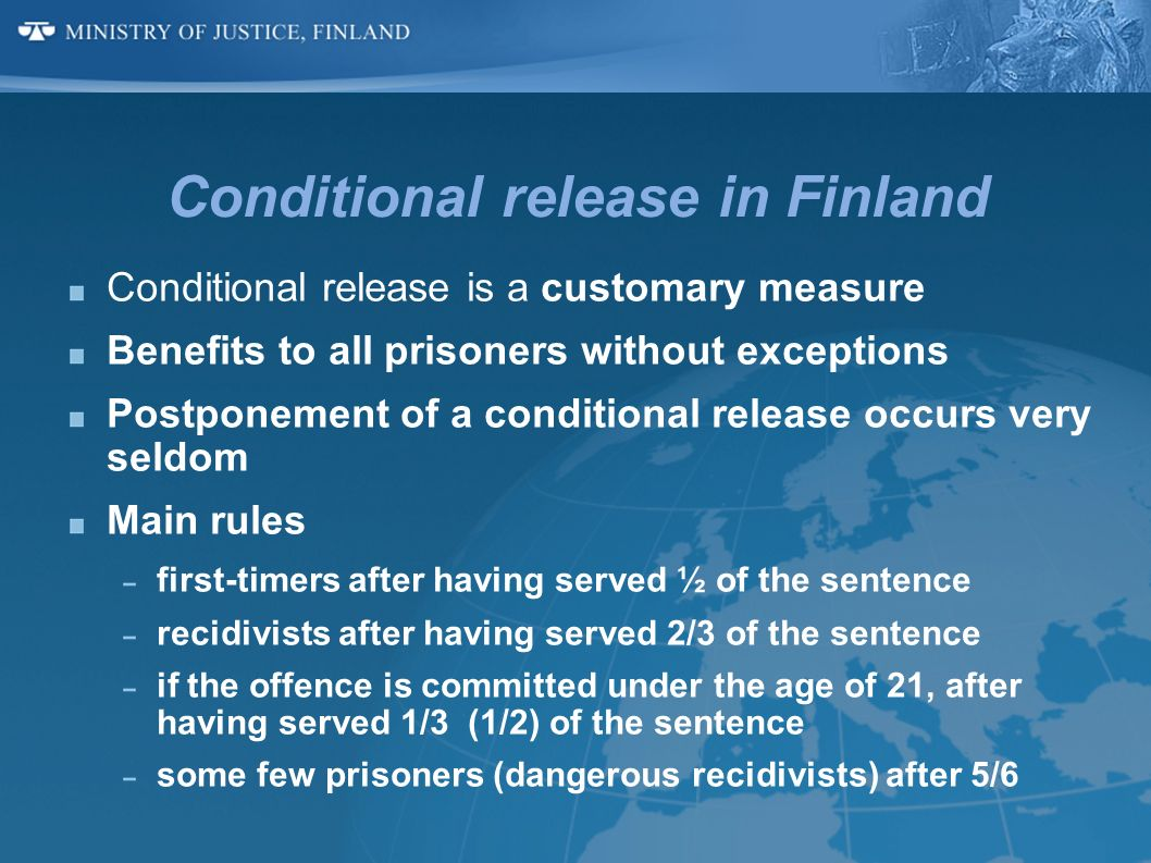 Conditional release in Finland