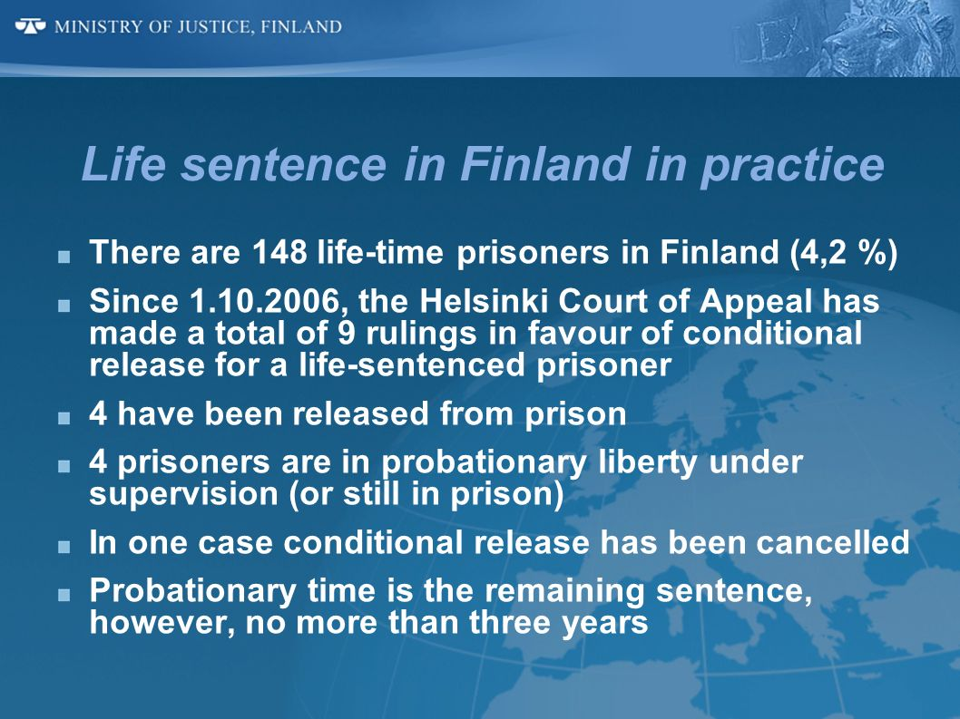 Life sentence in Finland in practice