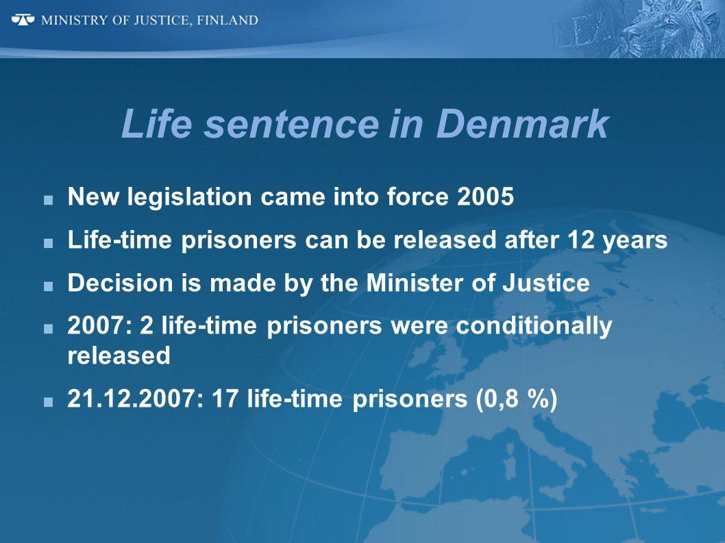 Life sentence in Denmark