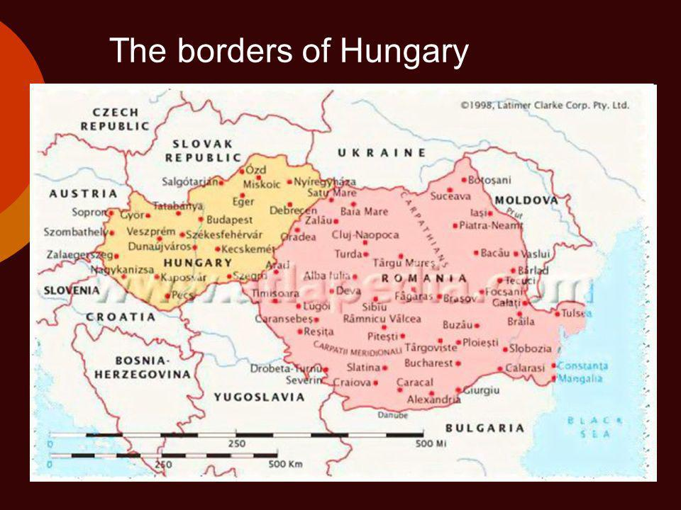 The borders of Hungary