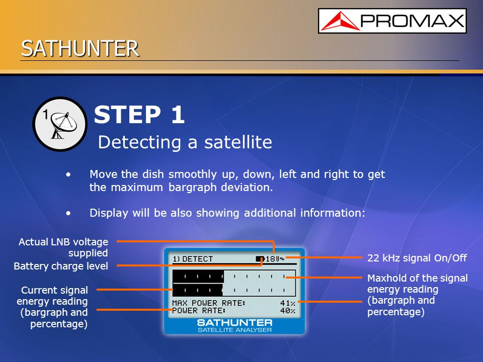 STEP 1 Detecting a satellite