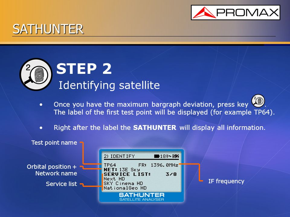 STEP 2 Identifying satellite