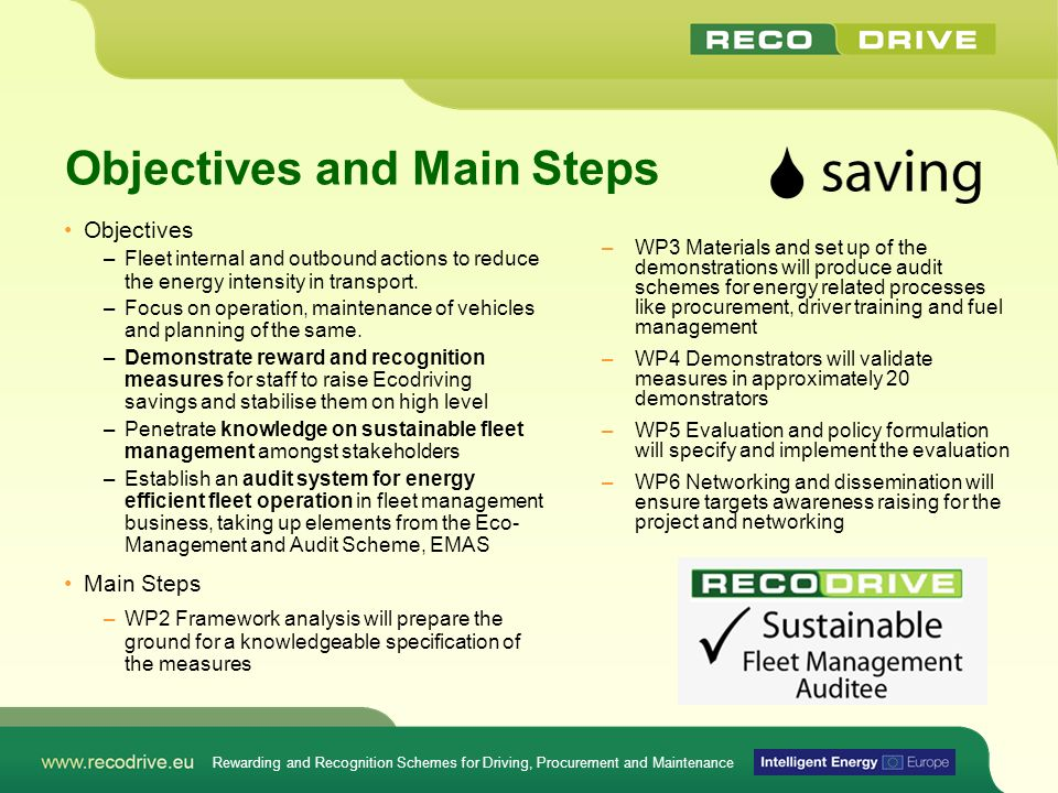Objectives and Main Steps