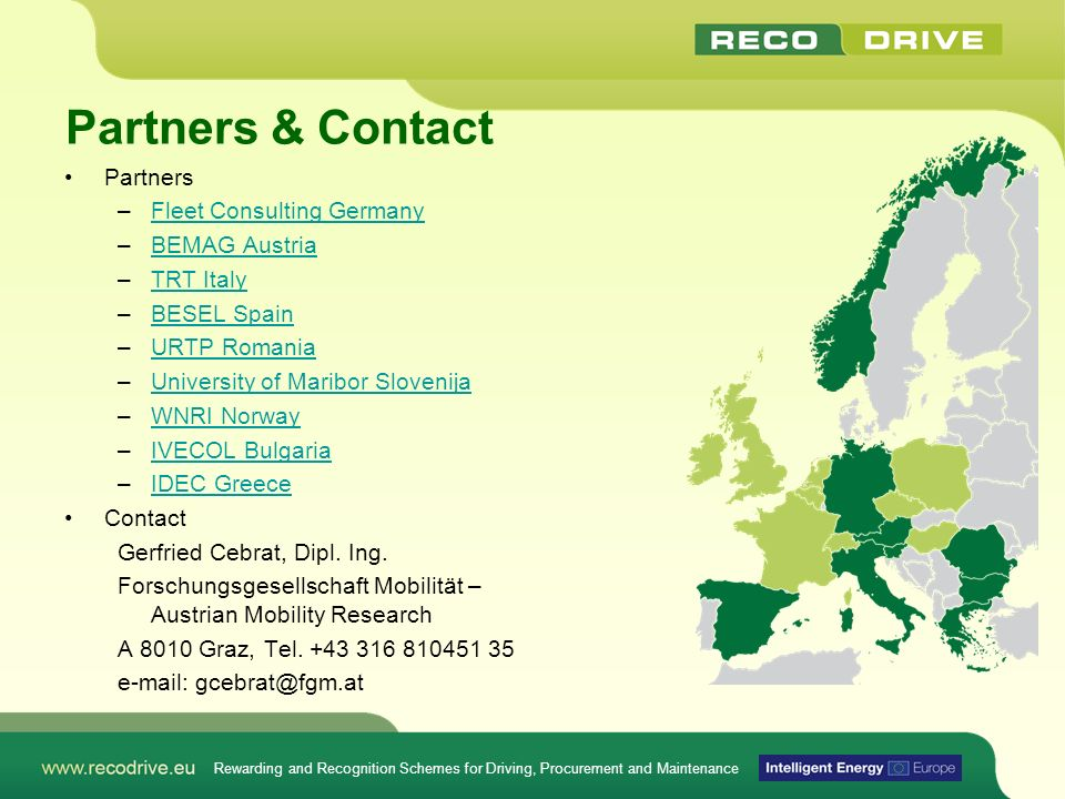 Partners & Contact Partners Fleet Consulting Germany BEMAG Austria