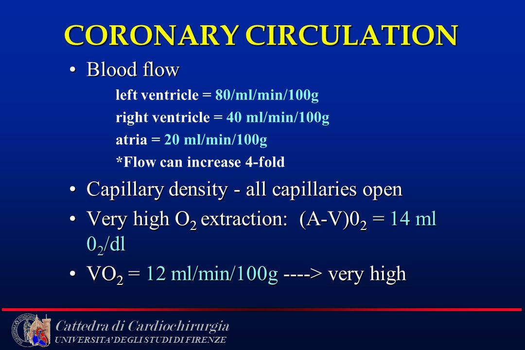 CORONARY CIRCULATION Blood flow