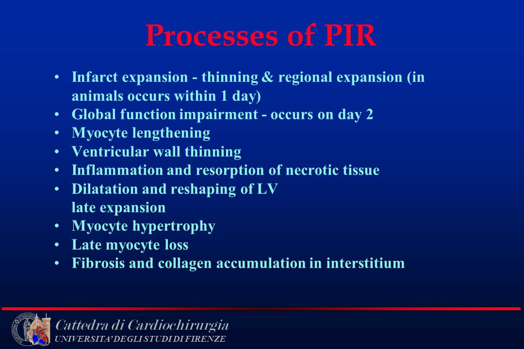 Processes of PIR Infarct expansion - thinning & regional expansion (in