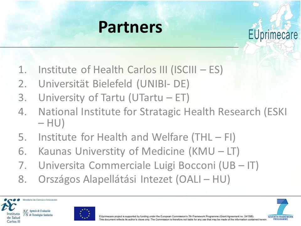 Partners Institute of Health Carlos III (ISCIII – ES)