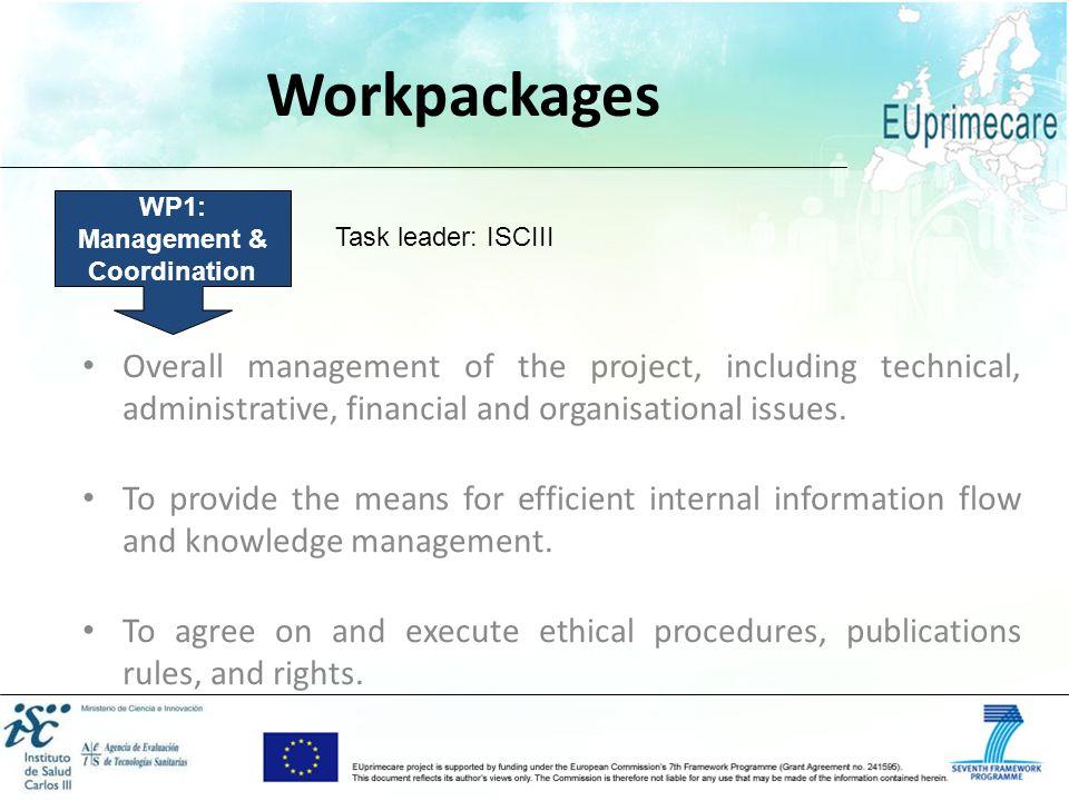 WP1: Management & Coordination
