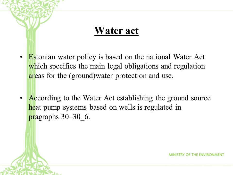 Water act