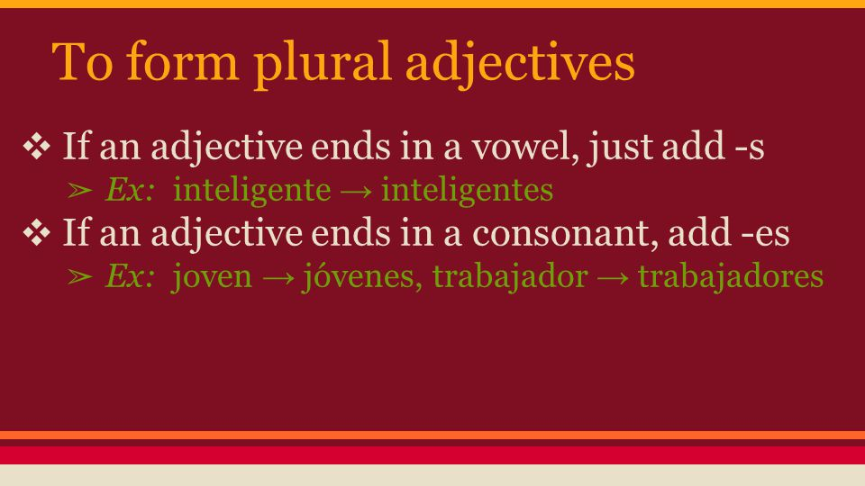Noun-Adjective Agreement - ppt video online download