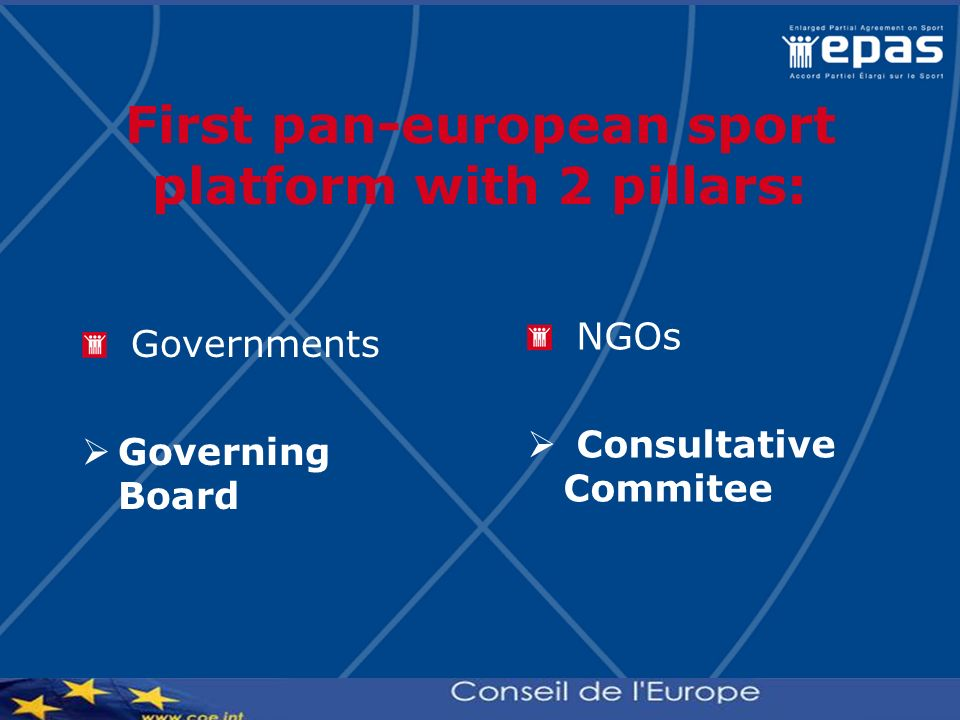 First pan-european sport platform with 2 pillars: