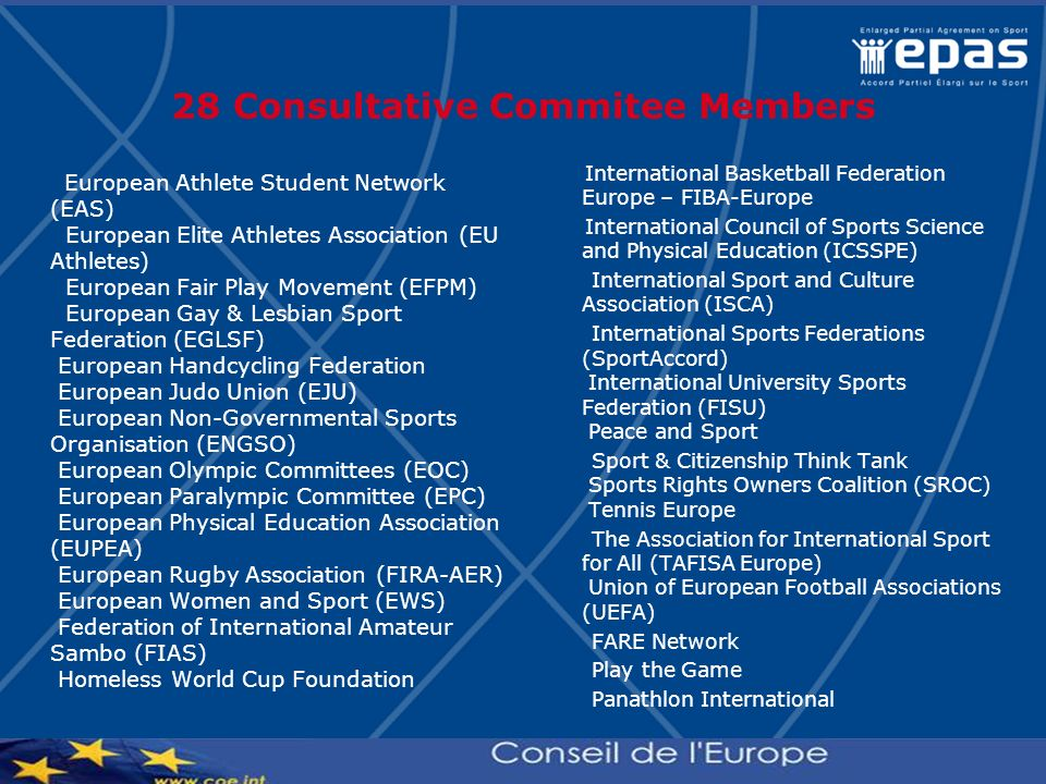 28 Consultative Commitee Members