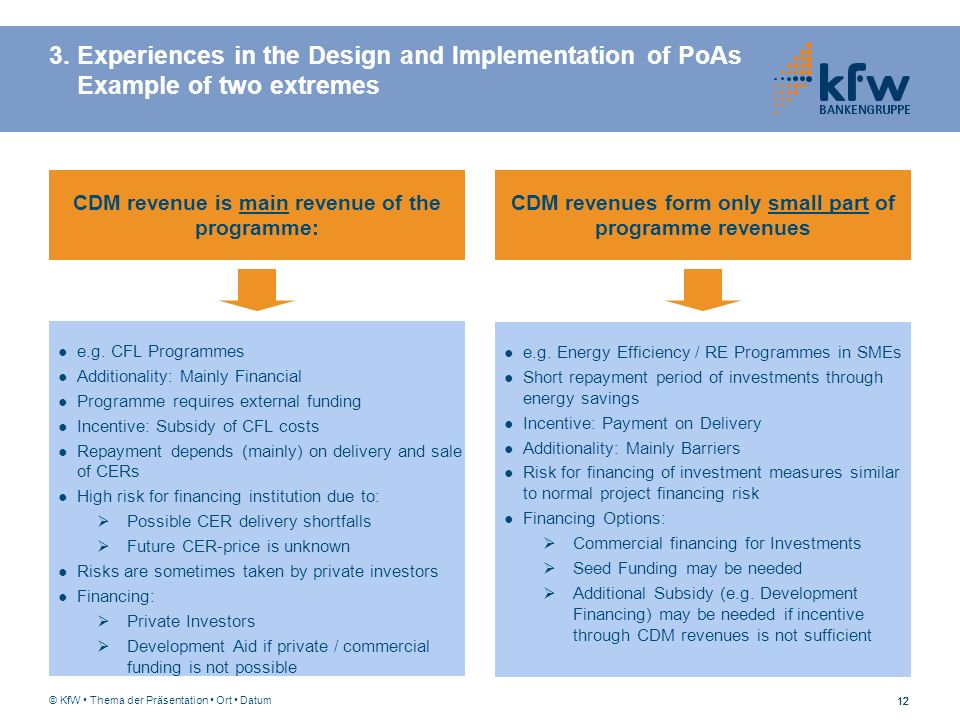 3. Experiences in the Design and Implementation of PoAs Example of two extremes