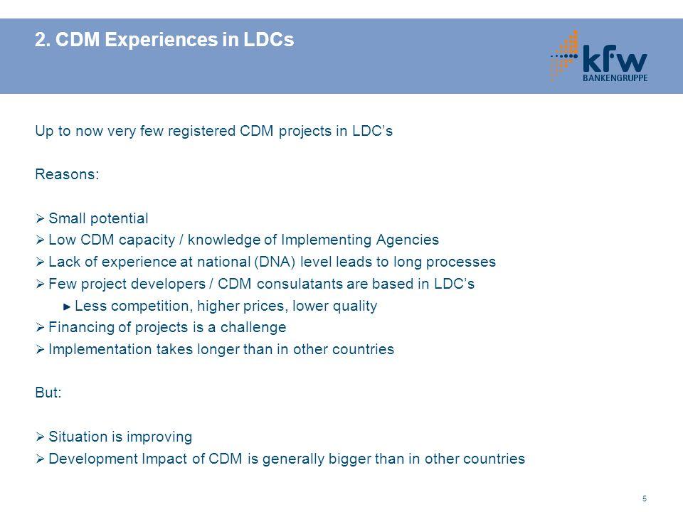 2. CDM Experiences in LDCs
