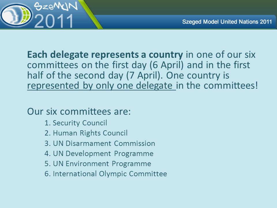 Our six committees are: