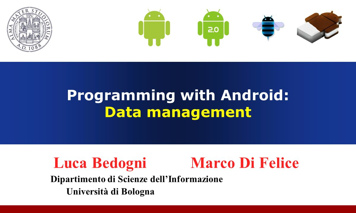 Programming with Android: Data management