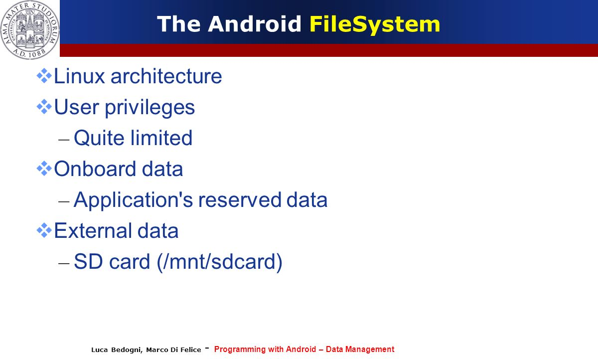 The Android FileSystem