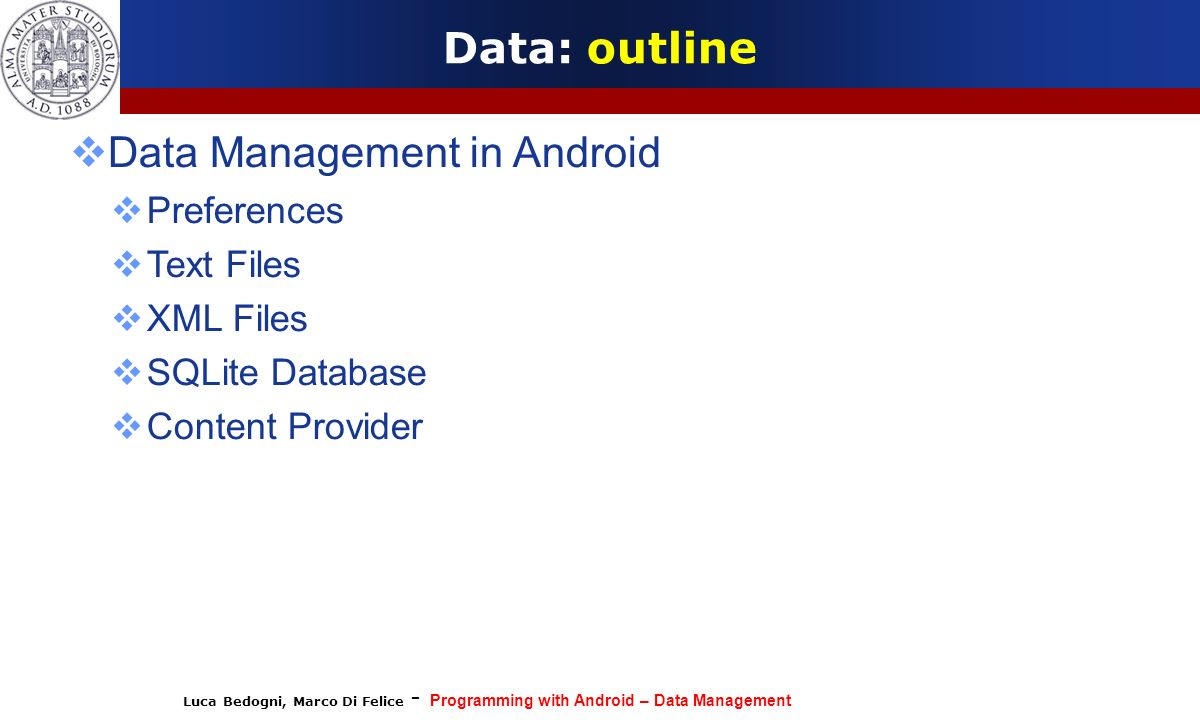 Data Management in Android