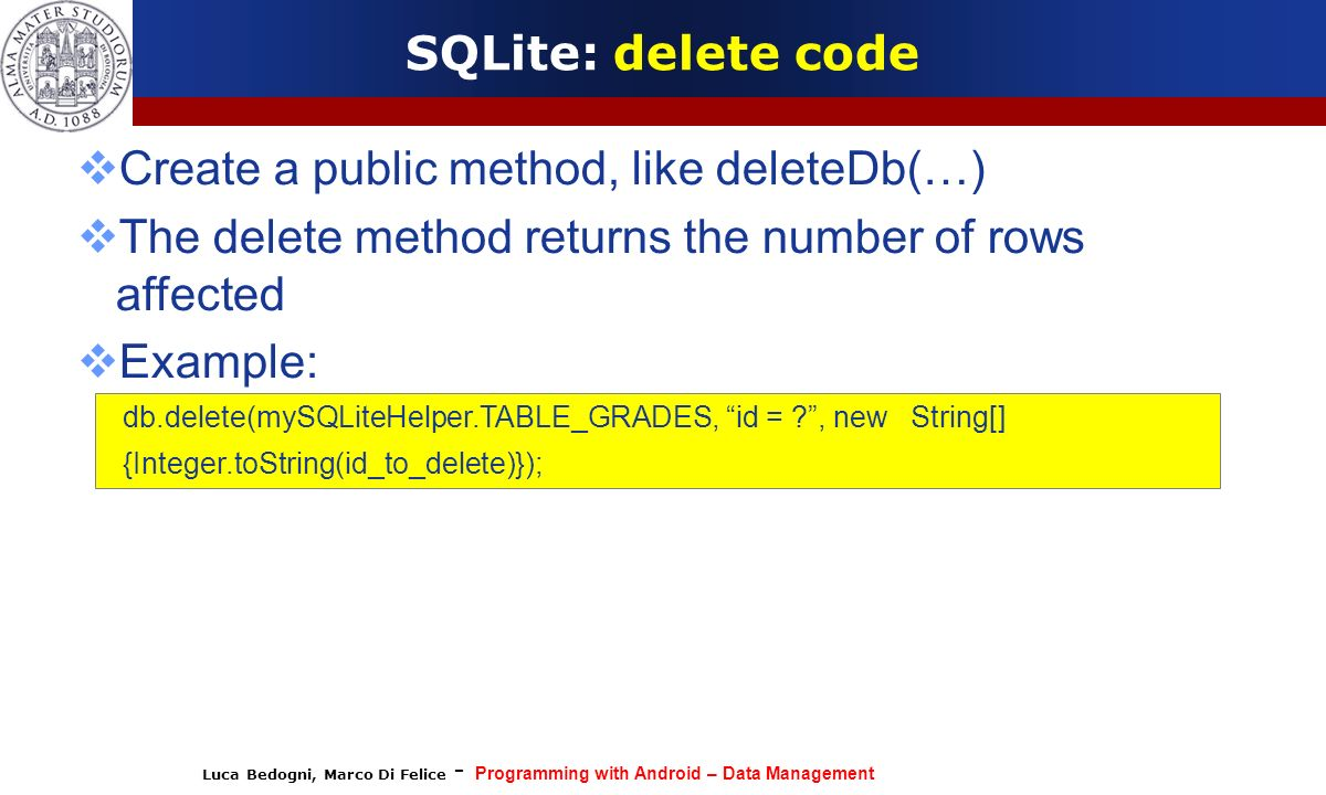 Create a public method, like deleteDb(…)