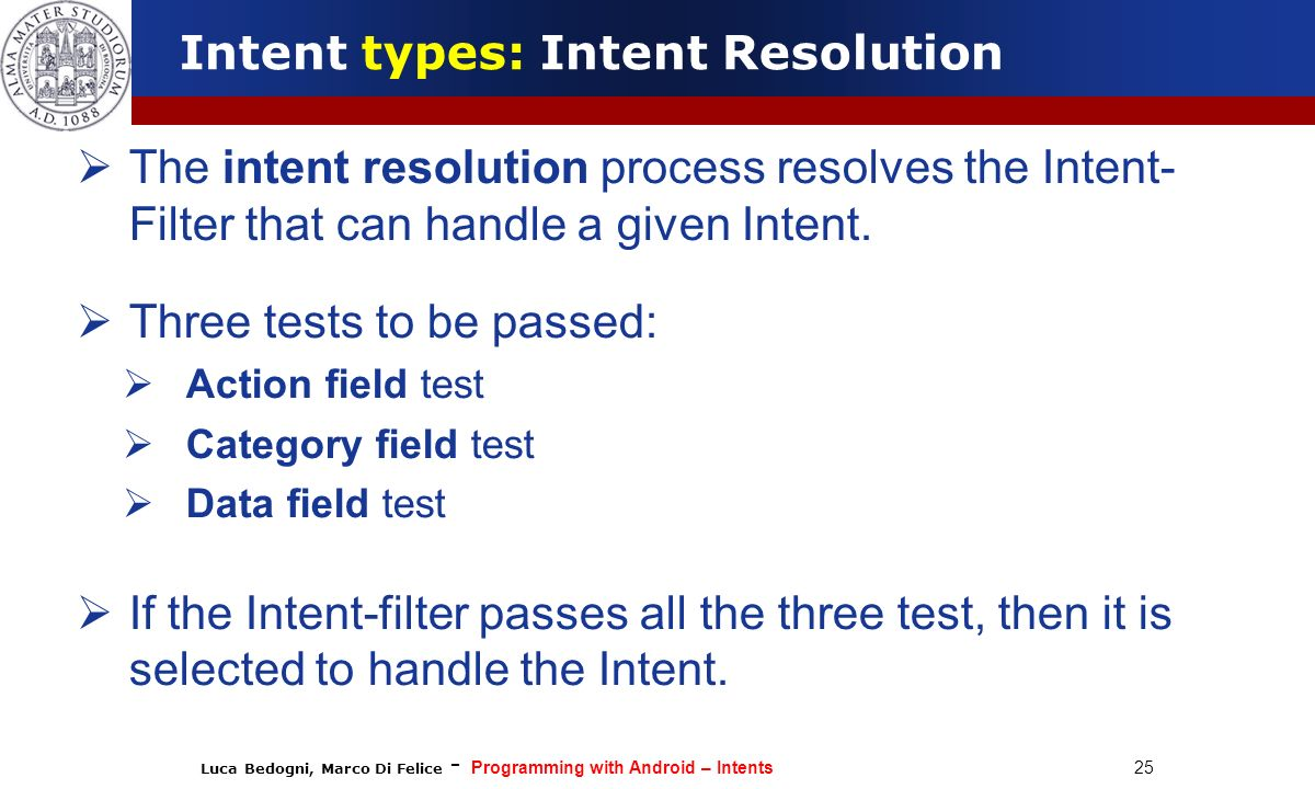 Intent types: Intent Resolution