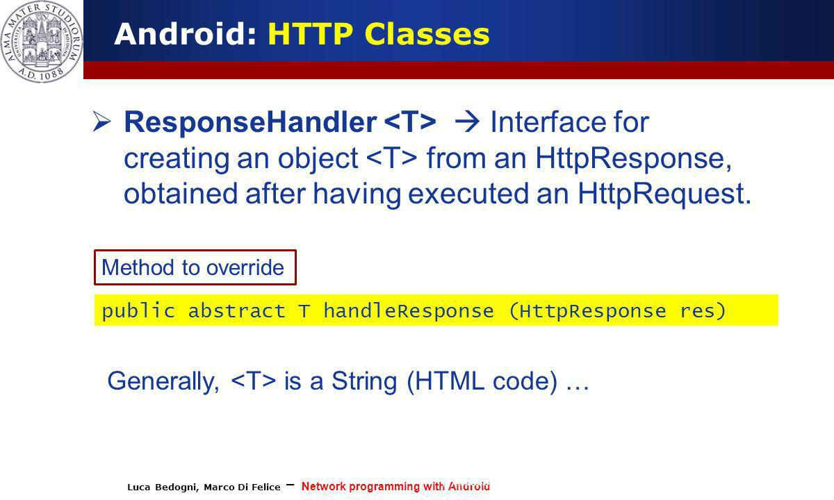 Android: HTTP Classes