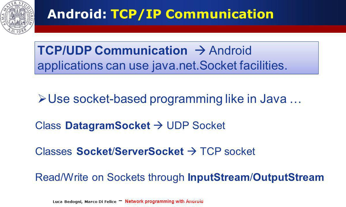 Android: TCP/IP Communication
