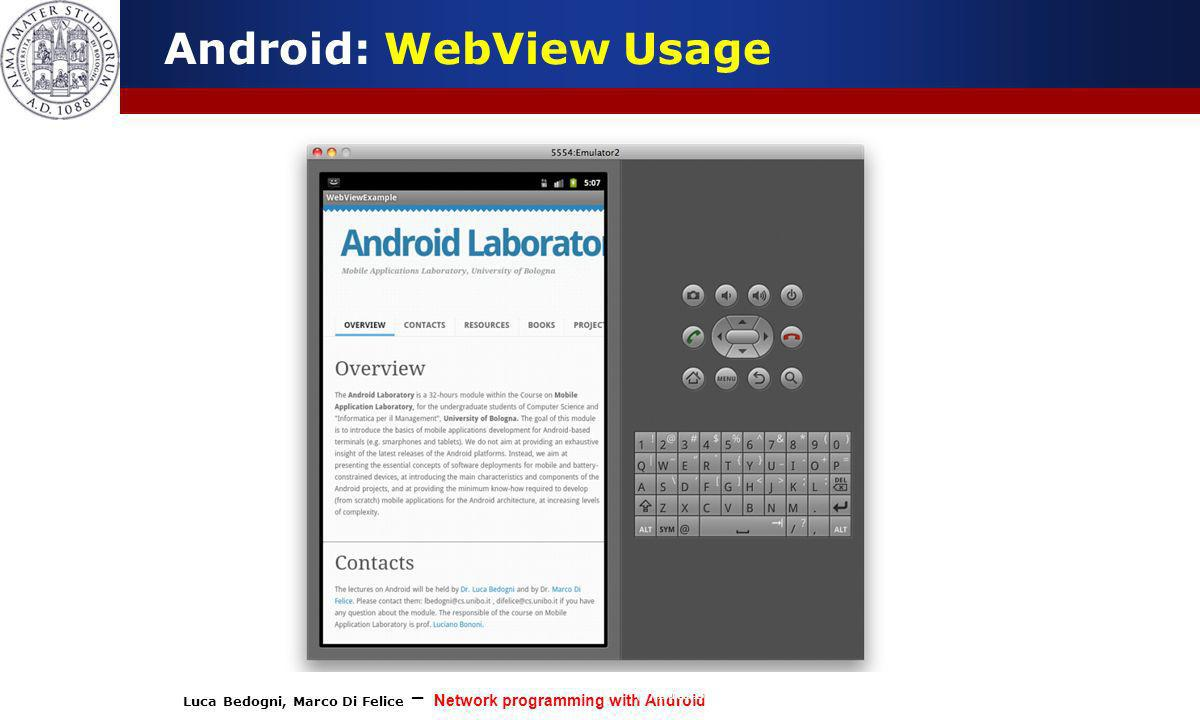 Android: WebView Usage