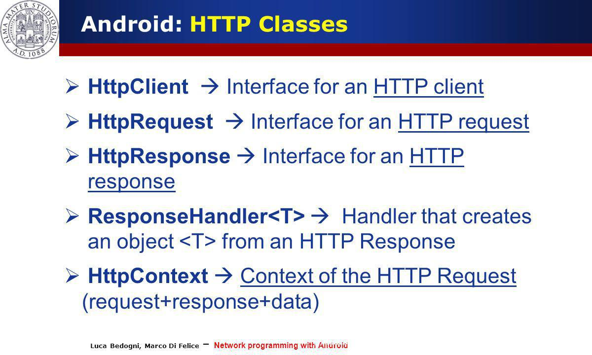 HttpClient  Interface for an HTTP client