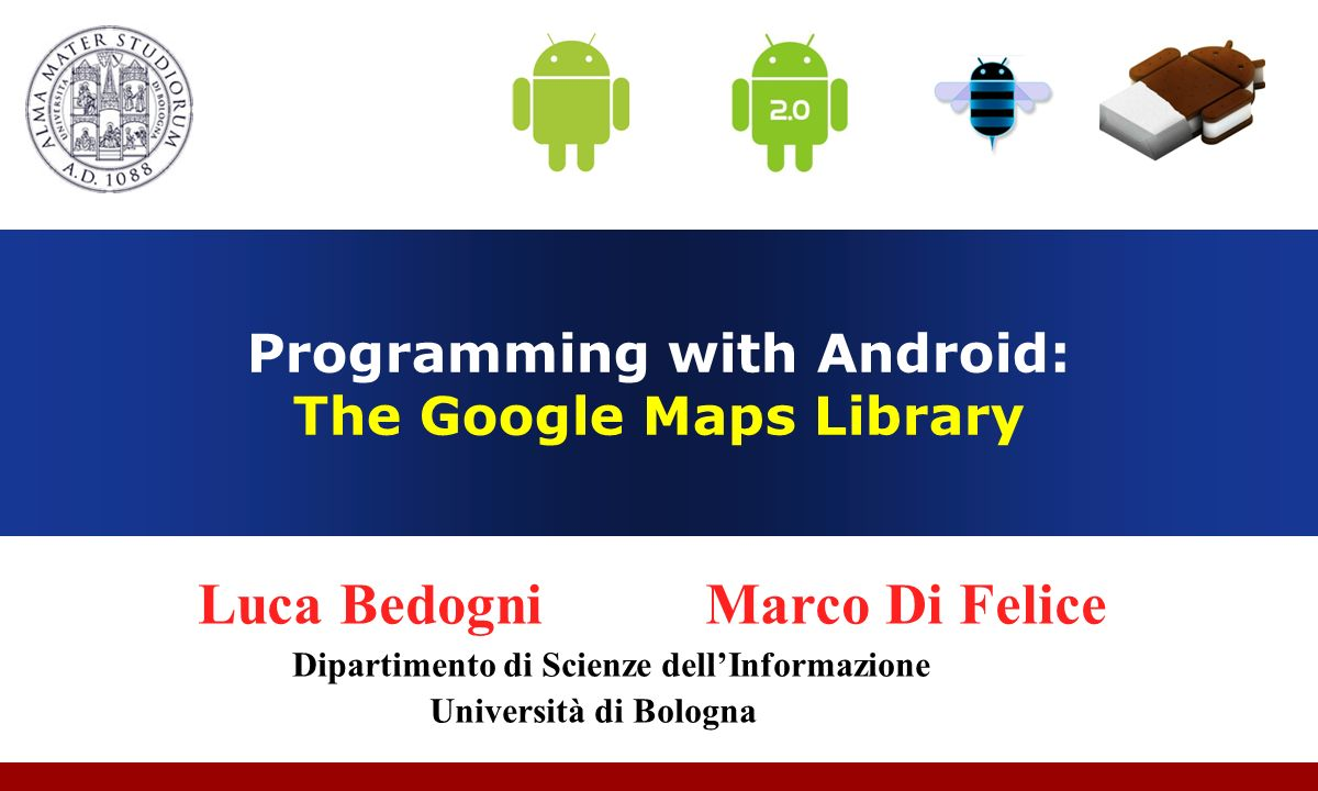 Programming with Android: The Google Maps Library