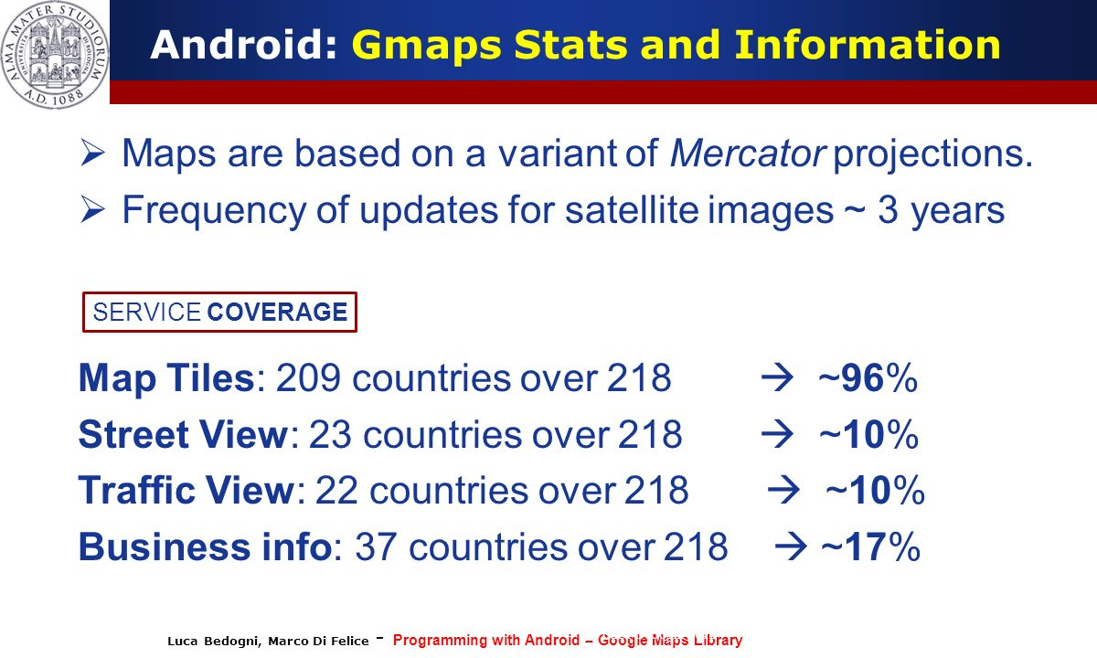 Android: Gmaps Stats and Information