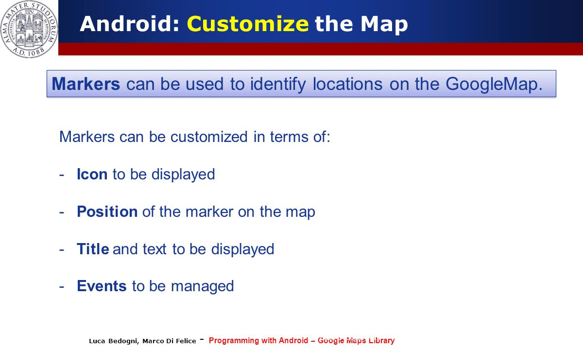 Android: Customize the Map