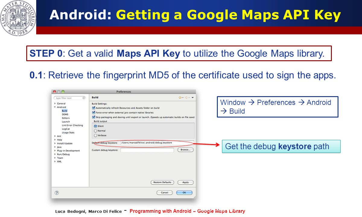 Android: Getting a Google Maps API Key