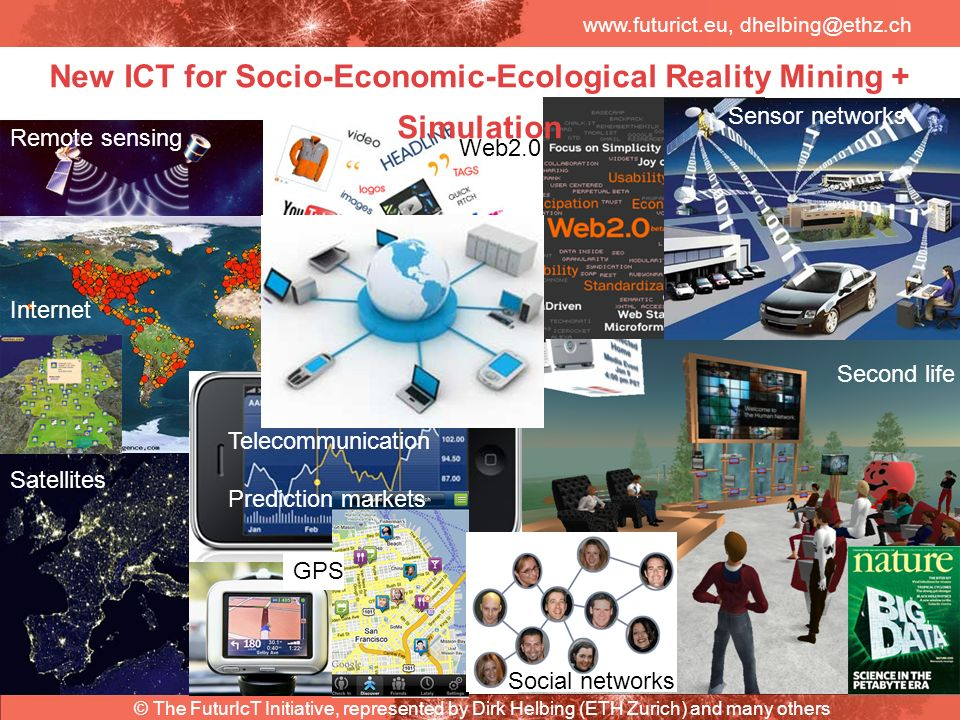 New ICT for Socio-Economic-Ecological Reality Mining + Simulation