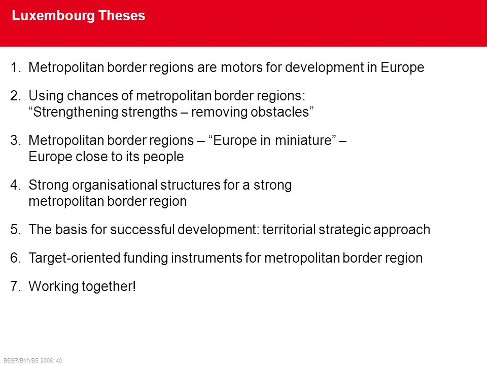 Metropolitan border regions are motors for development in Europe