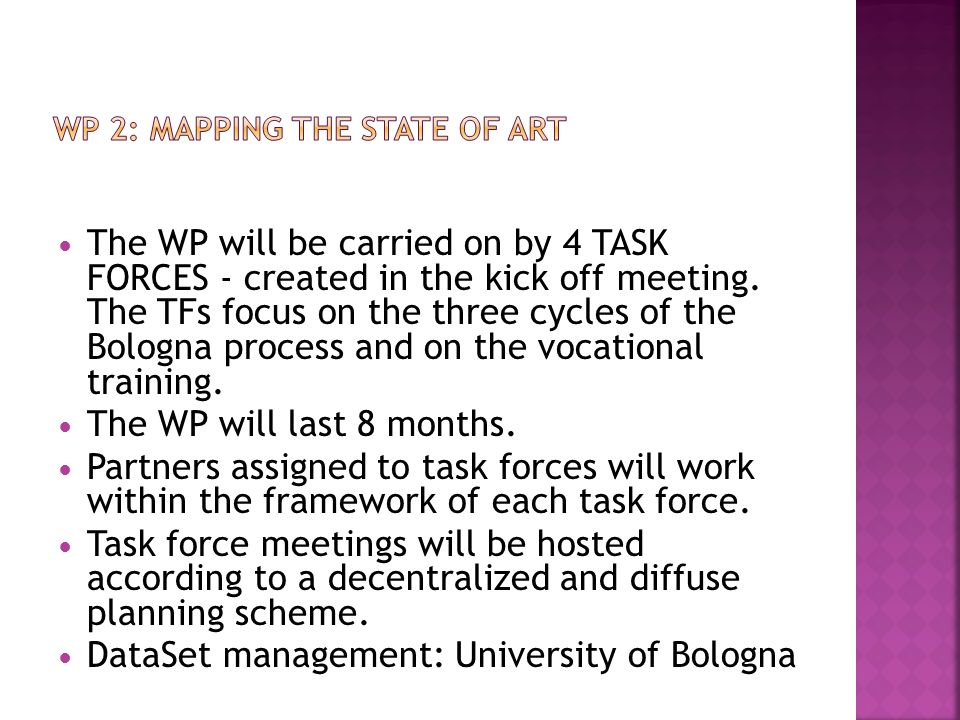 WP 2: MAPPING THE STATE OF ART