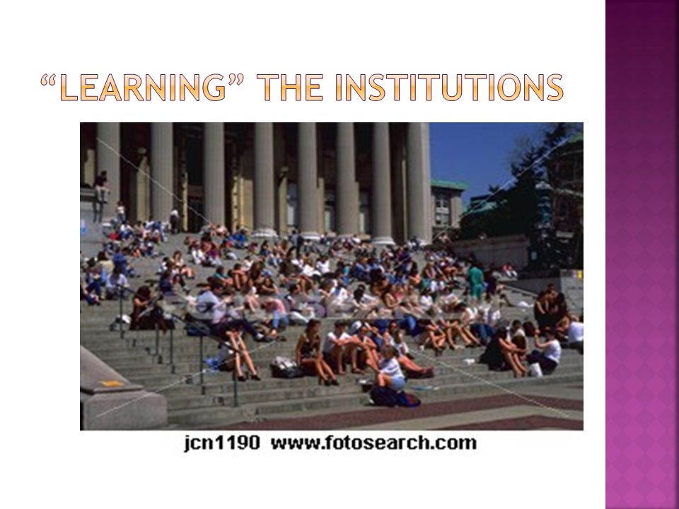 Learning the institutions