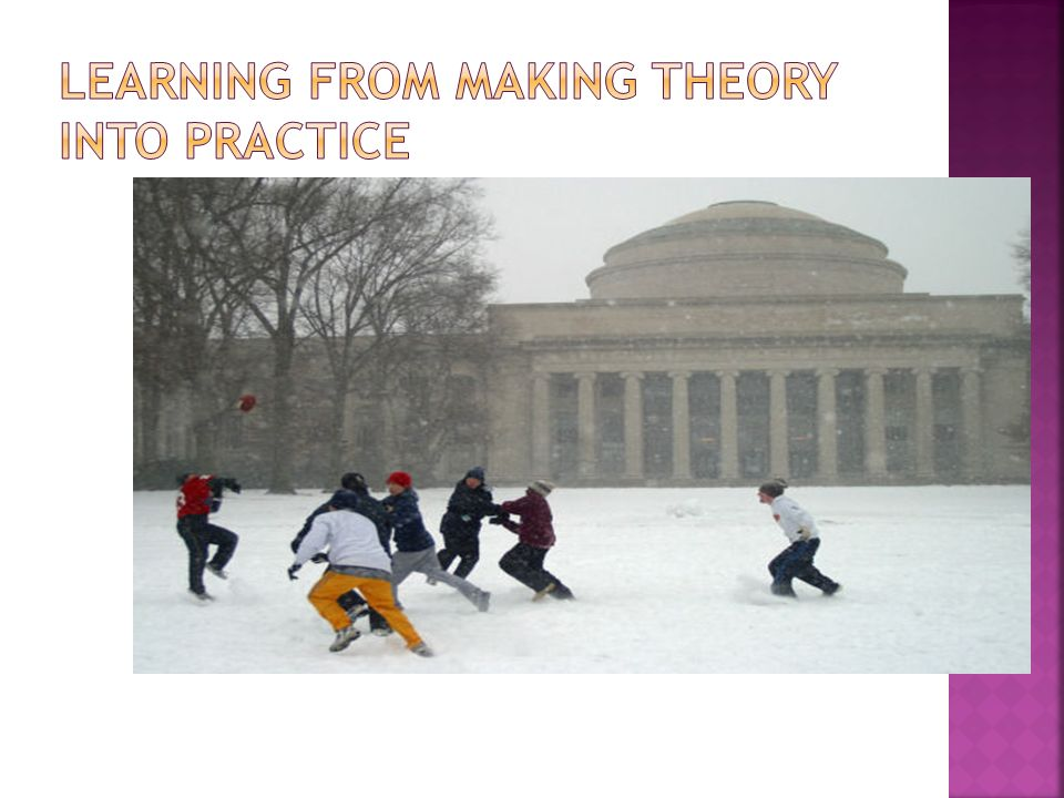Learning from making theory into practice