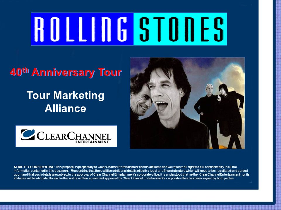 40th Anniversary Tour Tour Marketing Alliance