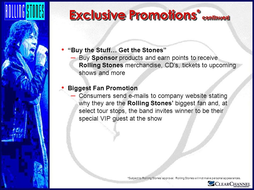 Exclusive Promotions* continued