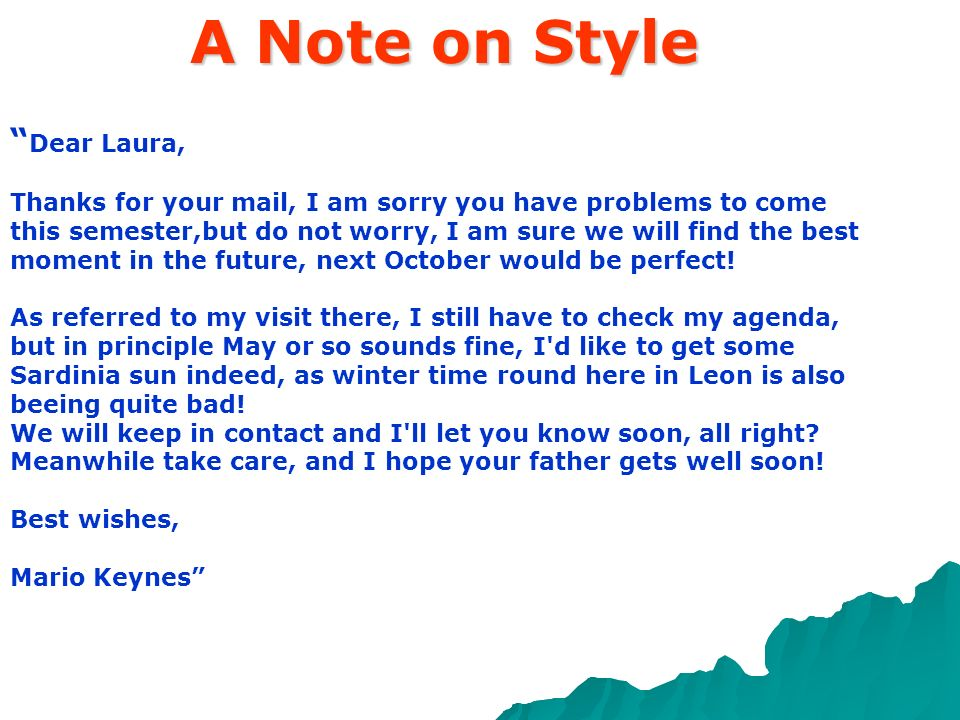 A Note on Style