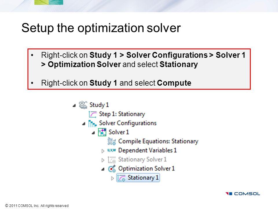 Setup the optimization solver