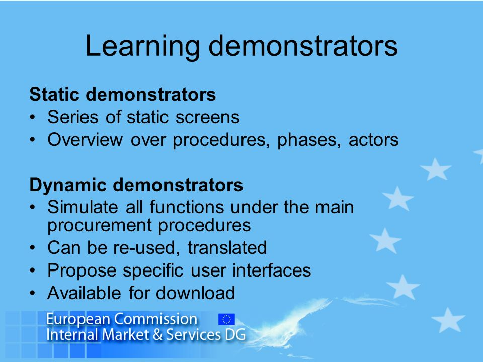 Learning demonstrators